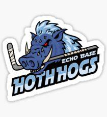 Hoth Hogs Hockey Team Sticker