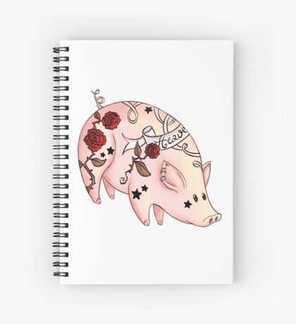 Tattoo Pig Spiral Notebook
