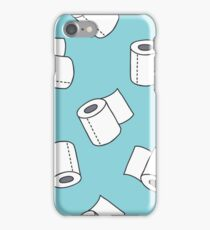doodle pattern. toilet paper iPhone Case/Skin