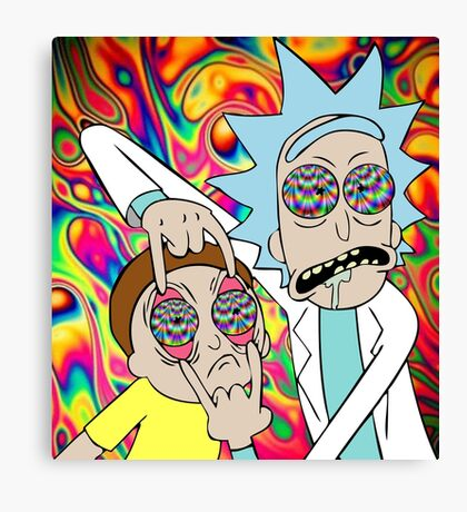 Psychedelic Rick and Morty  Canvas Print