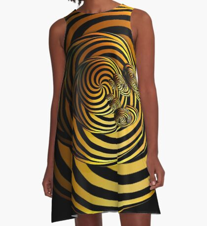 I Go In Circles by Julie Everhart A-Line Dress