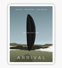 Arrival film poster Sticker