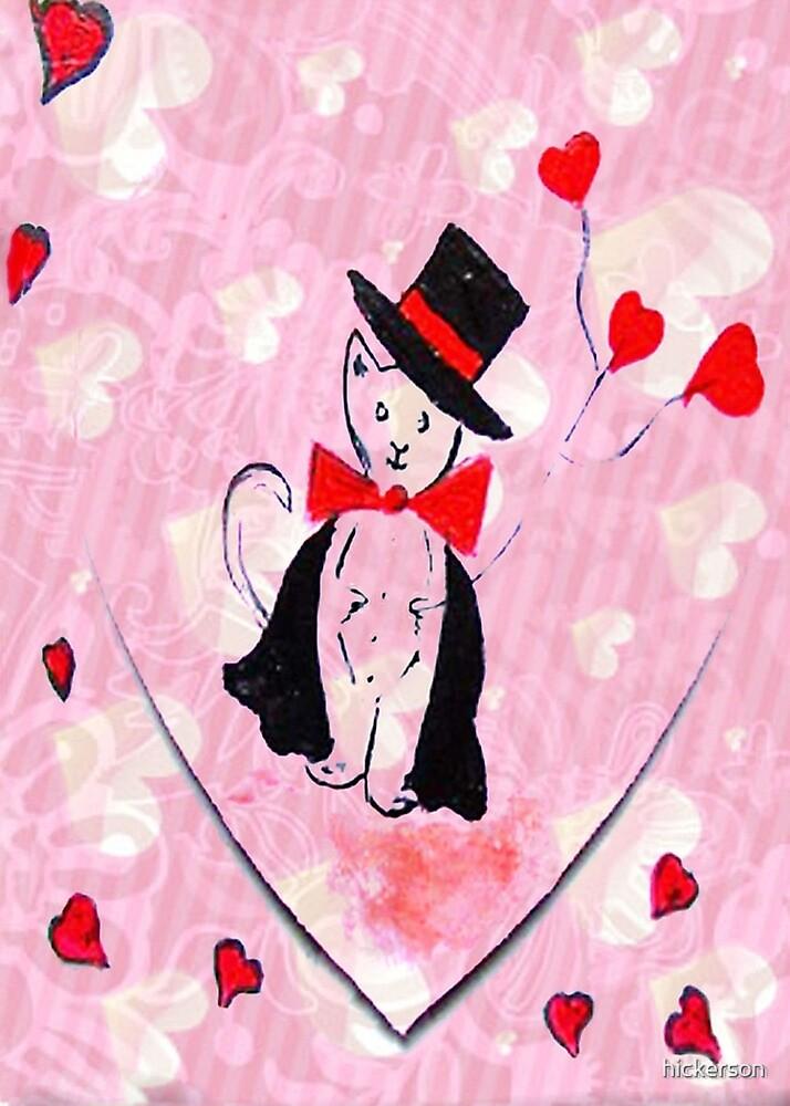 Top Hat Cat Valentine by hickerson