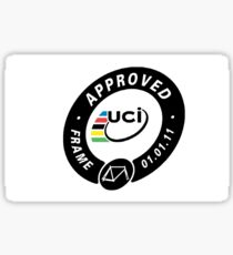 UCI Frame Approval Sticker