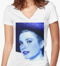 Grace Kelly Women's Fitted V-Neck T-Shirt