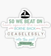 Fitzgerald Quote Sticker