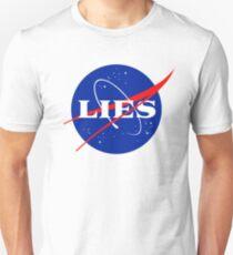 56fb494b75c5e Flat Earth Awareness Tank Top. NASA LIES LOGO Slim Fit T-Shirt
