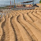 Boat on Sanur Beach at Low Tide by JohnKarmouche