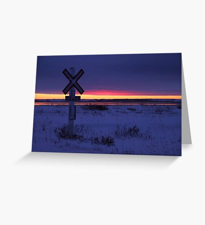 Indigo Sunset: The Crossing  Greeting Card