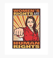 Women's Rights Are Human Rights Photographic Print