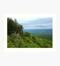Powell Valley from Pinnacle Overlook Art Print
