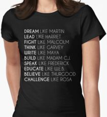 Dream Like Martin Womens Fitted T-Shirt