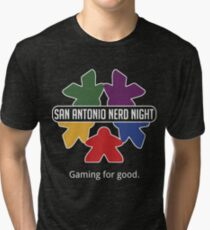 San Antonio Nerd Night - Color Flat Tri-blend T-Shirt