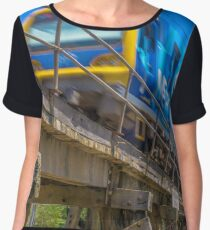 Melbourne Metro Train on Trestle Bridge Women's Chiffon Top