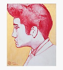 Youthful Elvis in oil painting! Photographic Print