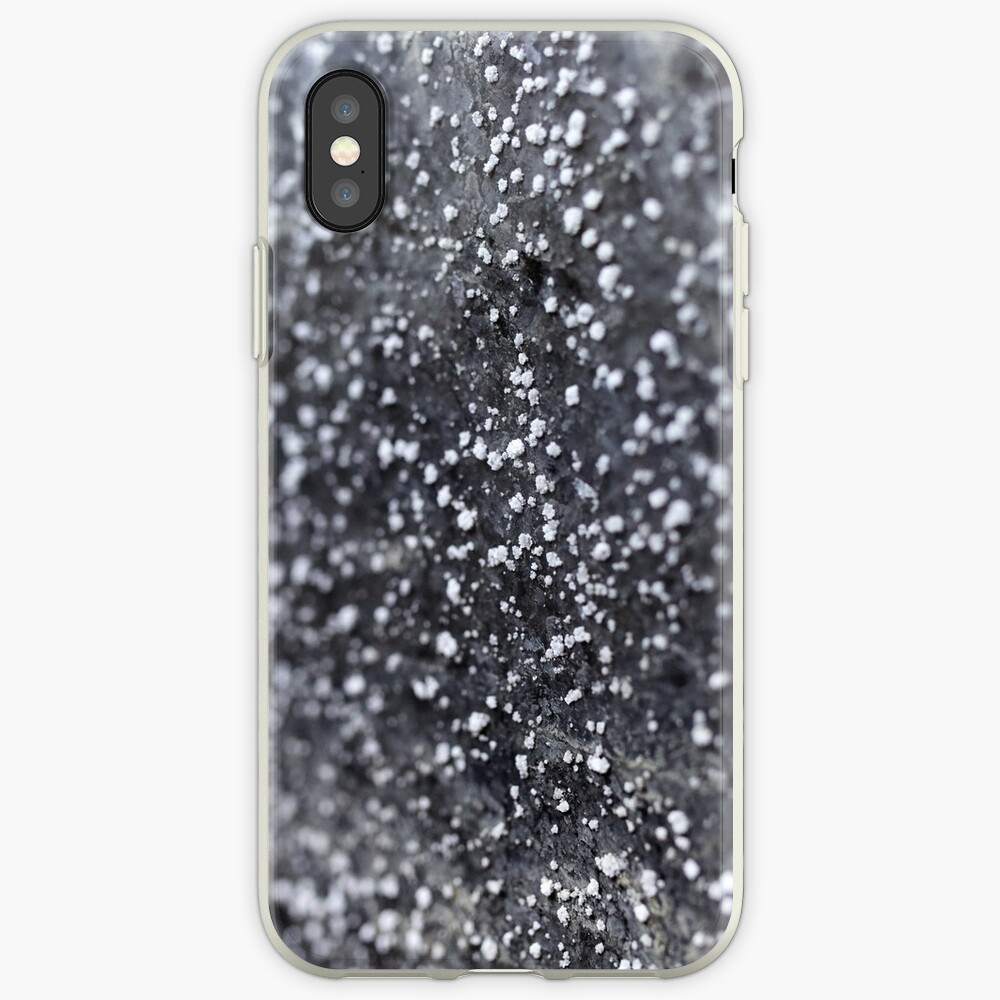 Salt crystals on a wall in a salt mine iPhone Case & Cover