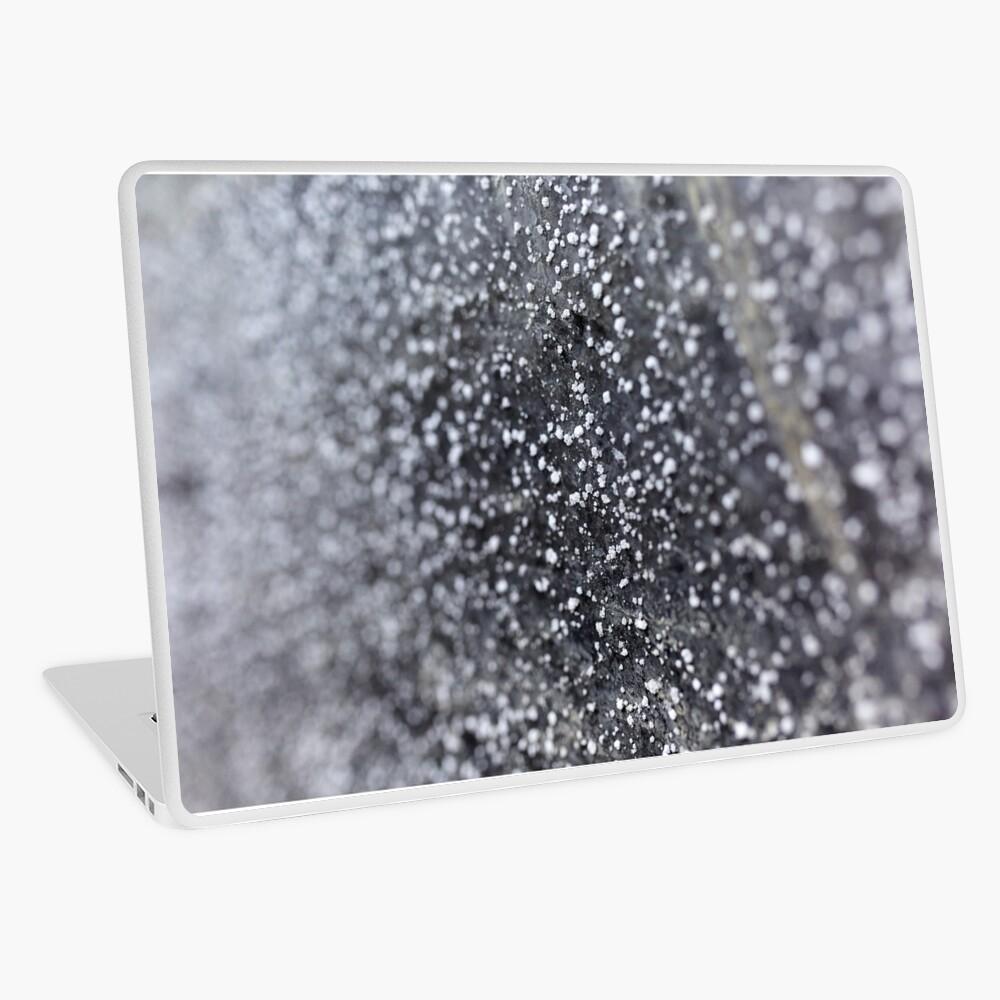 Salt crystals on a wall in a salt mine Laptop Skin