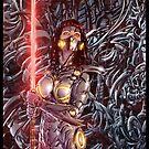 Cyberpunk Painting 084 by Ian Sokoliwski