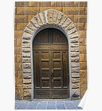 Studded Timber Double Doors Poster