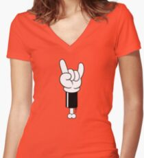 Toon Rock Women's Fitted V-Neck T-Shirt
