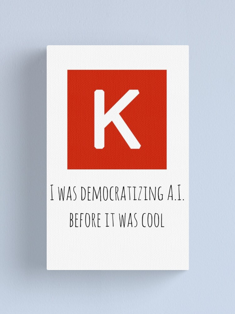 Alternate view of Democratizing AI Keras Version Canvas Print
