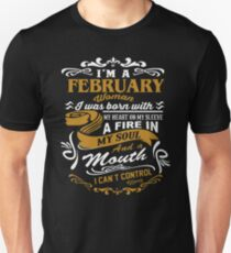 i am a february woman Unisex T-Shirt