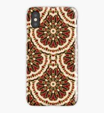Pattern with round colored mandalas iPhone Case