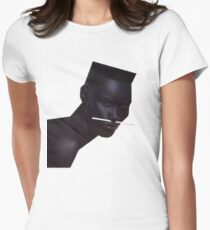 Grace Jones Iconic Womens Fitted T-Shirt