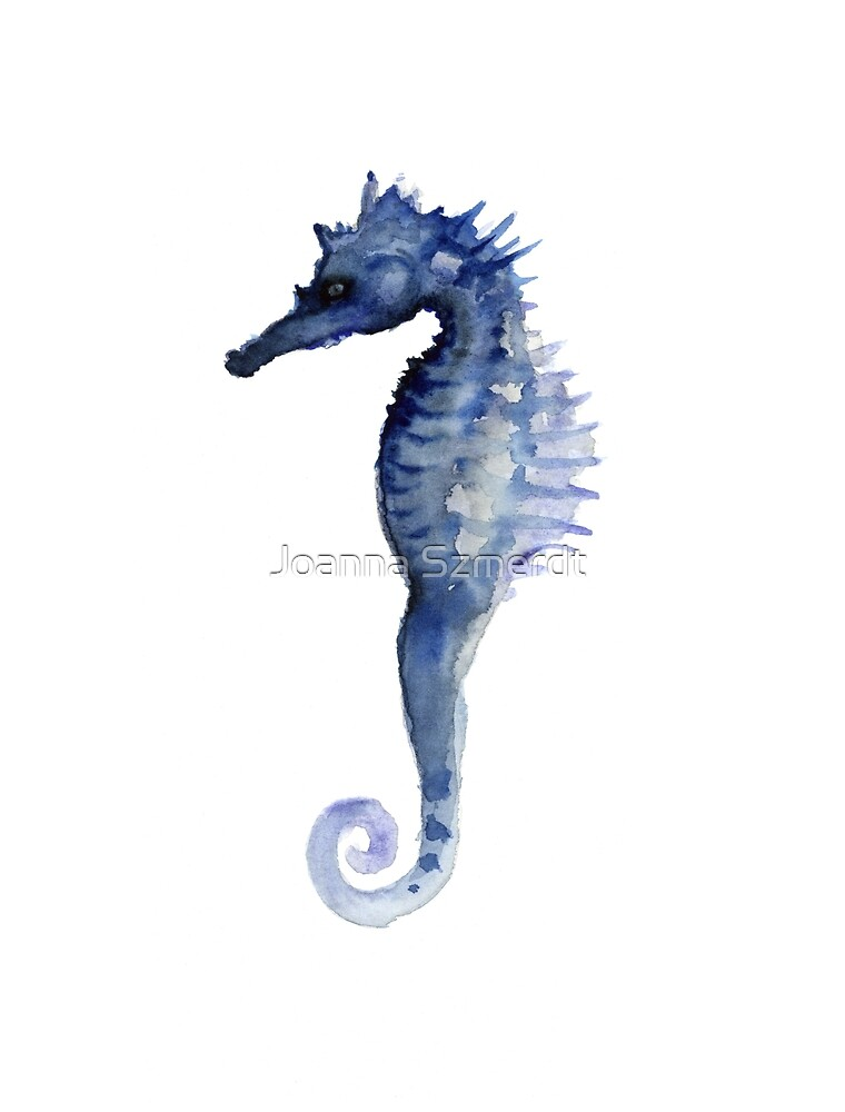 Quot Seahorse Watercolor Art Print Painting Large Poster Quot By