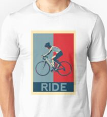 Ride - perfect for bicyclists and cyclists and those who love bikes T-Shirt