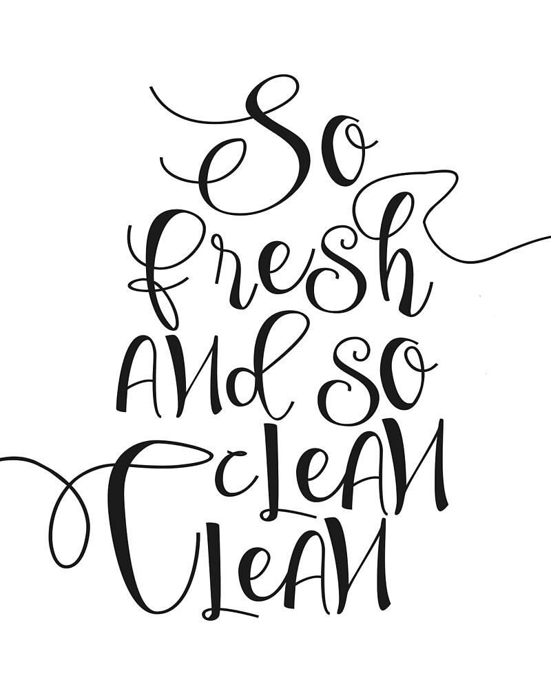 """""""Printable Art """"So Fresh And So Clean Clean"""" Wall Art Wall ..."""