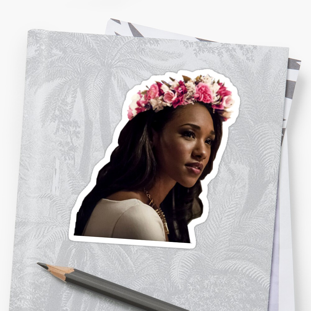 Flower Crown Iris Stickers By Therebemonsters Redbubble