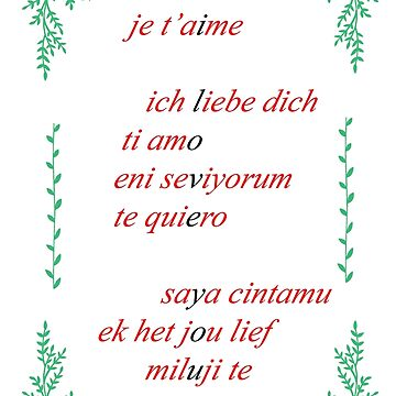 Valentine's Card: I Love You - Multi by MADEBYCATHERINE
