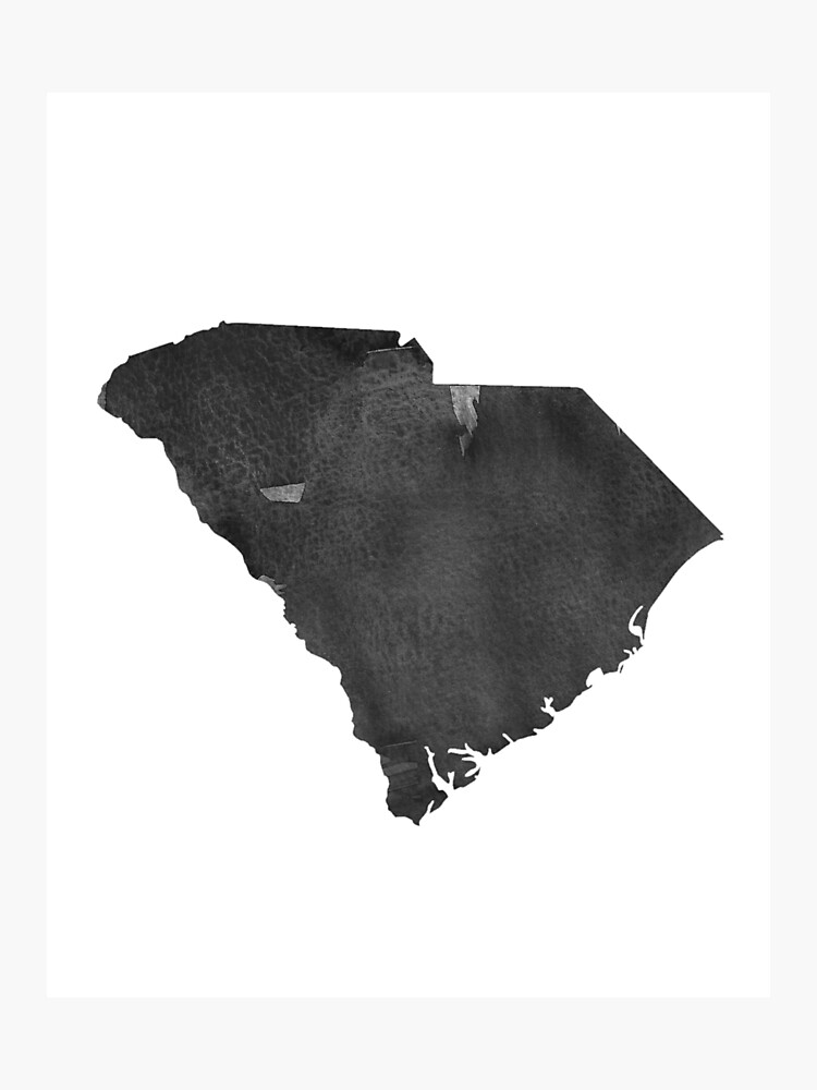 South Carolina Map Canvas Art PrintSouth Skyline Home Decor Wall