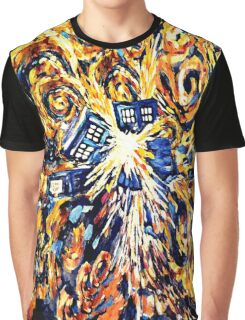Big Bang Attack Exploded Flamed Phone booth painting Graphic T-Shirt