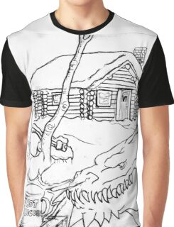 A Dragon's Winter Home in Vermont Graphic T-Shirt