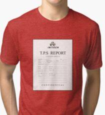 TPS report cover sheet initech Tri-blend T-Shirt