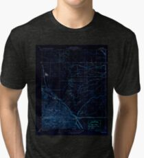 USGS TOPO Map California CA Tupman 296573 1933 31680 geo Inverted Tri-blend T-Shirt