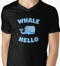 Whale Hello. Funny whale design Men's V-Neck T-Shirt