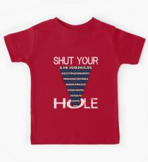 Shut Your Pi Hole 3.14 I Math Lovers Teacher Blue  Kids Clothes