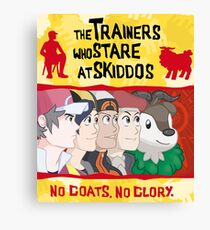 The Trainers Who Stare At Skiddos  Canvas Print