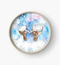 Native tam-tam Clock
