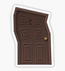 Glitch furniture door wacky door Sticker