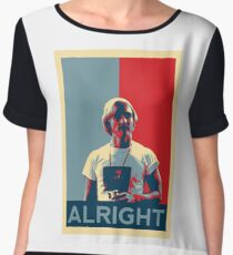 Wooderson (dazed & confused movie quote) - Alright Alright Alright Women's Chiffon Top