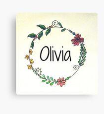 Personalised Names Canvas Print