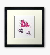 loving geeks designs Framed Print
