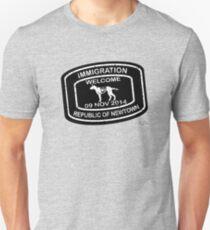 Republic of Newtown - 2014: White on Black Unisex T-Shirt