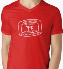 Republic of Newtown - 2014: White Men's V-Neck T-Shirt