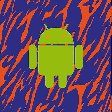 Android Logo mit Zebramuster in blau/orange von Exilant