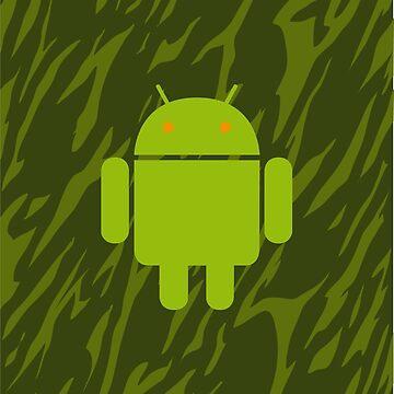 Android Logo mit grünem Camouflagemuster 1 von Exilant
